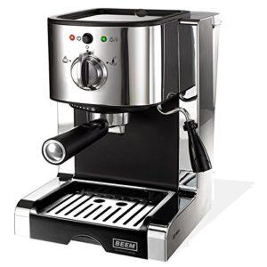 BEEM Germany Espresso Perfect Ultimate, Espresso-Siebträgermaschine mit 20 bar, Silber - 1